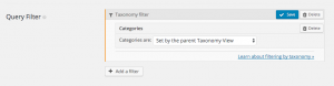 Filter posts based on the category set on the parent Taxonomy View