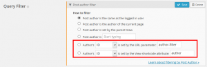 Passing Arguments – Post author filter