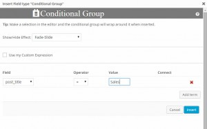 CRED Forms - Conditional Display Dialog