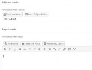 CRED notifications – Email subject and body