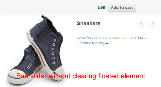 WooCommerce products slider - without clearing floated elements