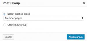 Access Assign or Create Custom Group