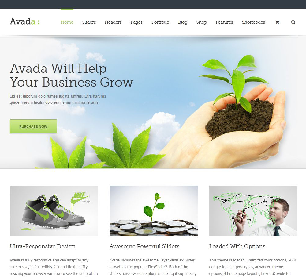 Nice Avada Template Images >> 25 Stunning Examples Of The Avada ...