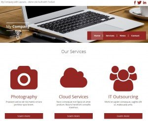 Brochure site built with Toolset Starter theme