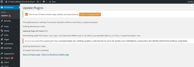 Cant update download failed ssl certificate problem toolset captureg 1betcityfo Gallery