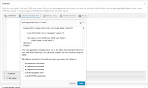 Auto-generator feature in CRED User Forms