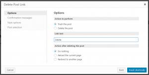 Adding the Delete link