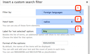 Include your taxonomy as a filter