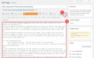 Creating a documentation page and pasting the auto-generated content