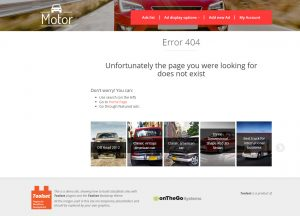 Error 404 Page Frontend Example
