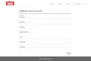 CRED User Form example on the front-end