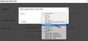 Selecting Post status
