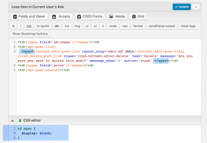 Adding additional HTML