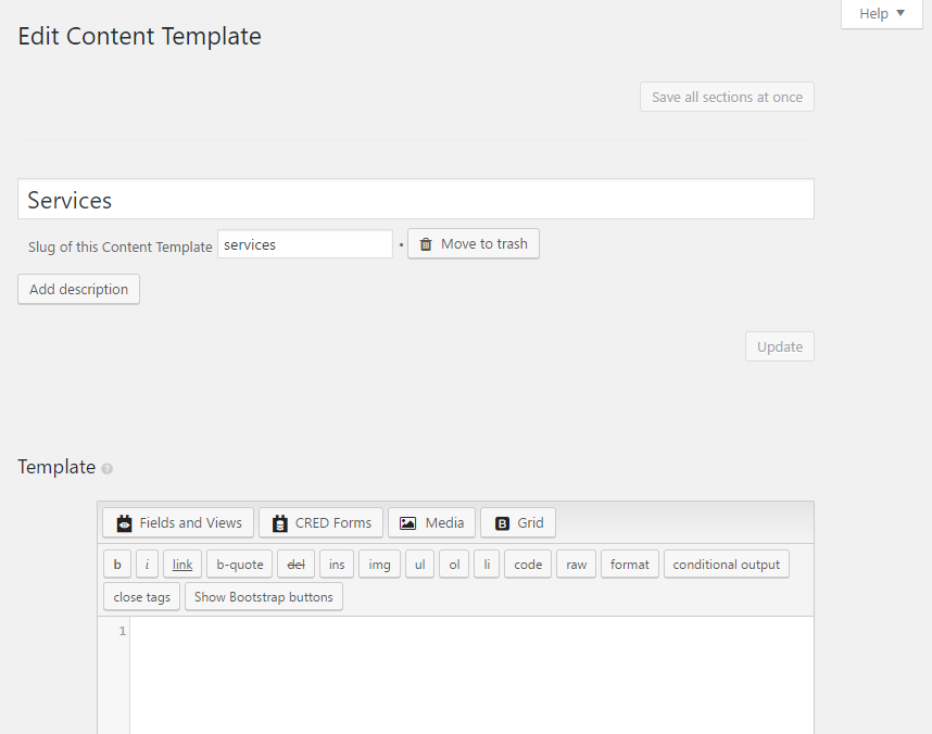 Editing content templates add new content template screen pronofoot35fo Image collections