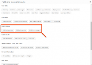 """CRED Editing buttons in the """"Fields and Views"""" dialog"""
