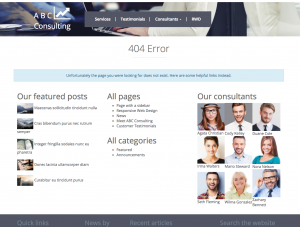 Example of a 404 error page