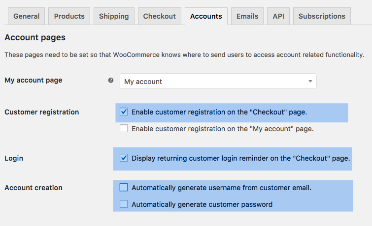 How to set up the Accounts tab when you use Toolset with WooCommerce Subscriptions