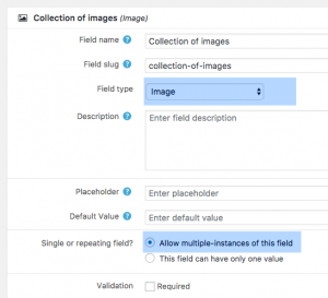 Adding an image field as a repeatable field