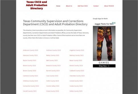 Texas CSCD Directory