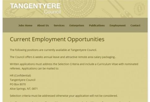 Tangentyere Jobs Page