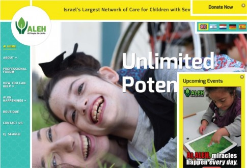 ALEH – Multilingual website, ecommerce and crowd funding platforms for an international charity